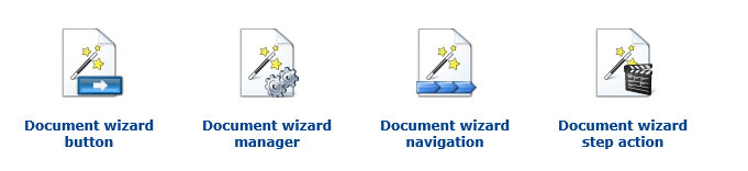 Document wizard web parts