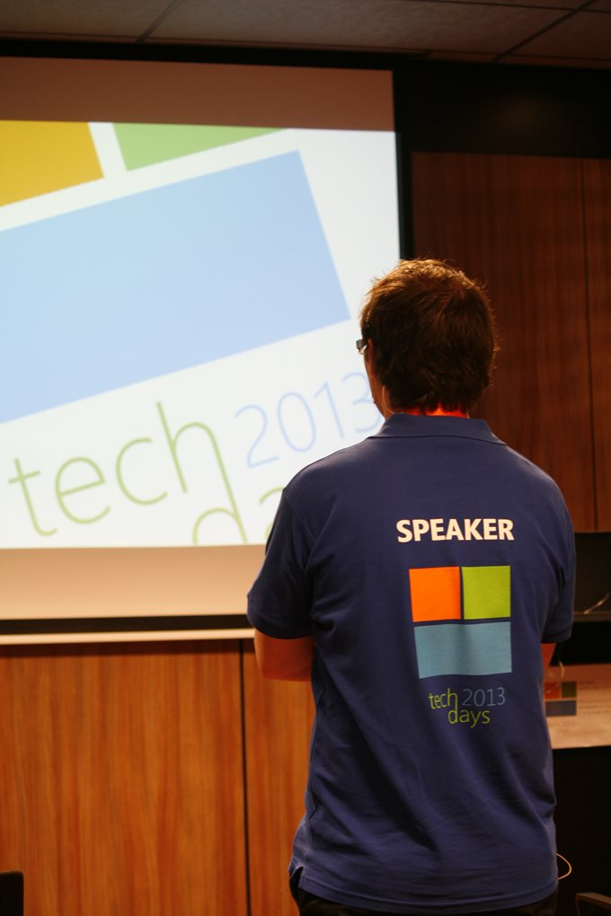 Speaking at TechDays 2013