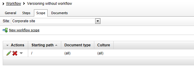 Enable workflow