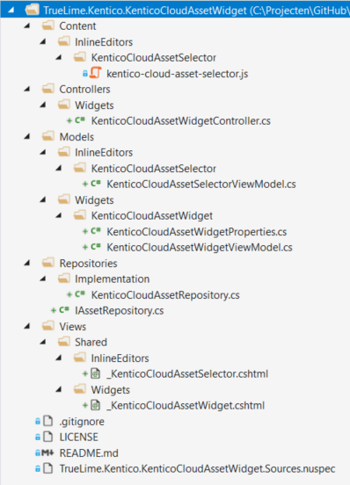 Kentico MVC widget architecture