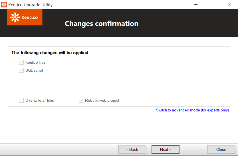 Kentico Upgrade Utility